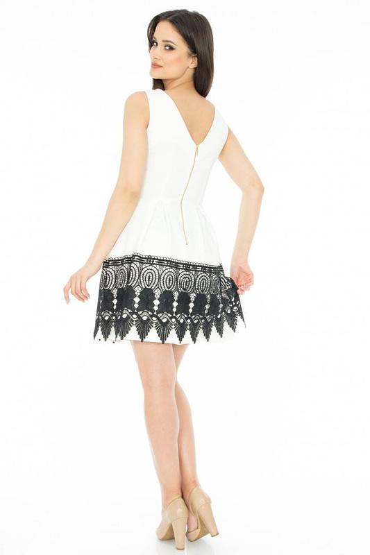 rochie cu dantela in contrast dr1888 2761 2