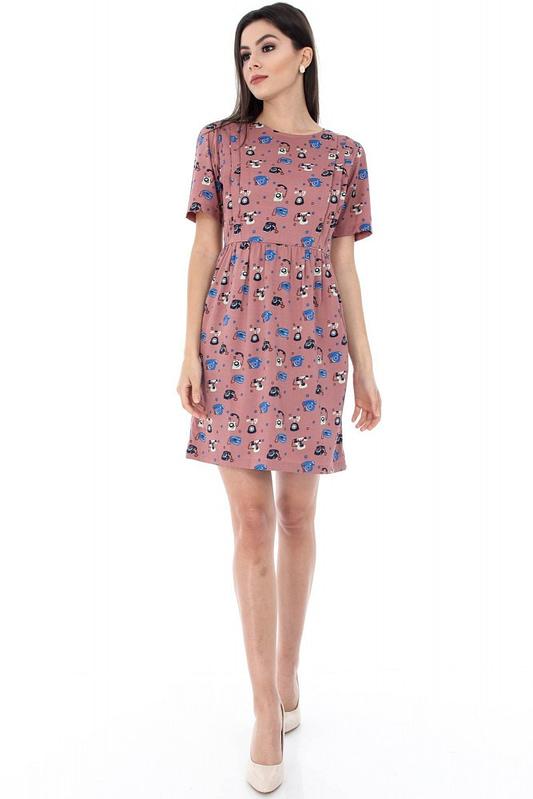 rochie cu imprimeu telefon dr2416 5559 3