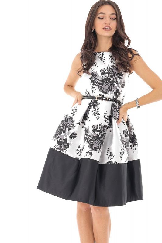 rochie de ocazie cu imprimeu floral dr2961 5793 1