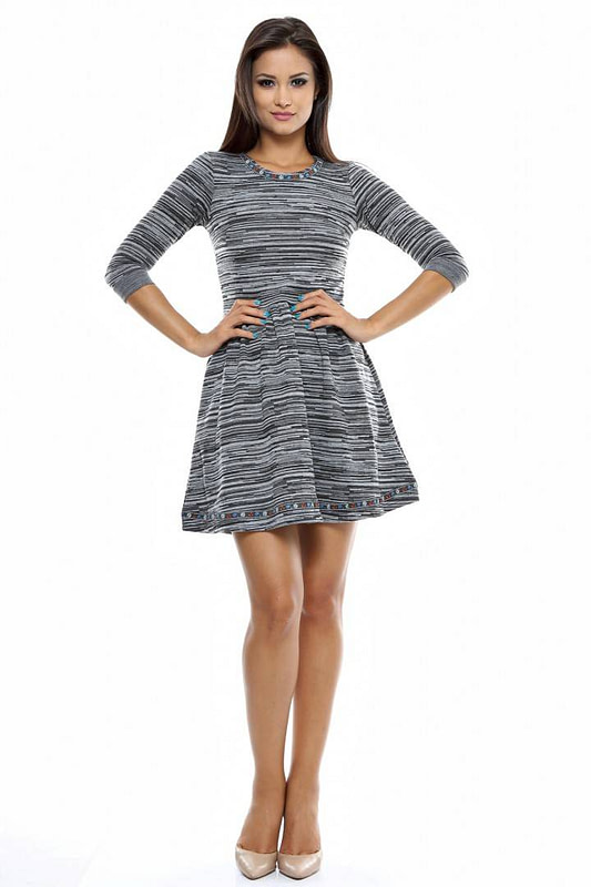 rochie gri din tricot d1420 1848 1