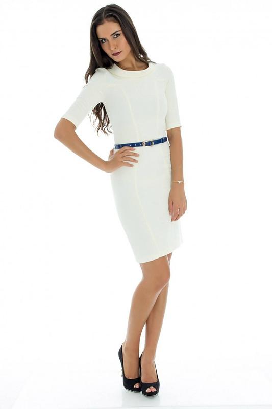 rochie midi cu curea dr2060 3021 3