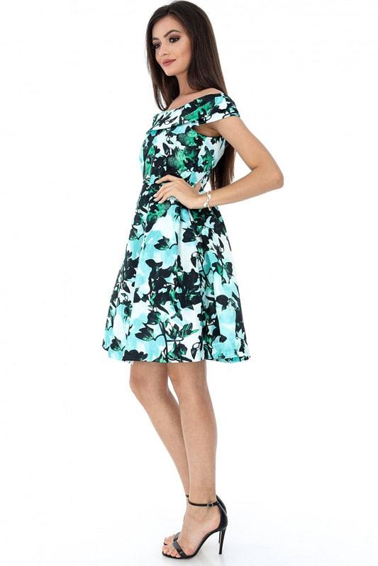 rochie multicolora roh eleganta dr3414 7215 3