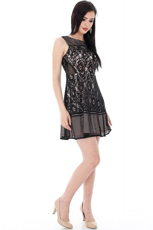 rochie neagra cu dantela dr2884 5571 1