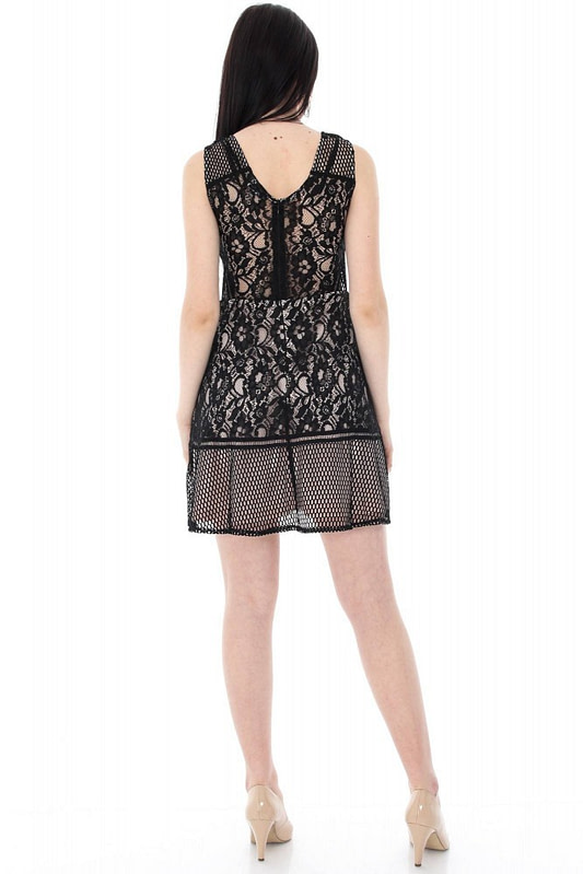 rochie neagra cu dantela dr2884 5571 2