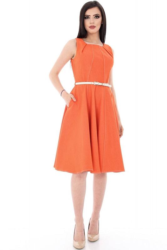 rochie portocalie in stil clos dr2906 5648 2