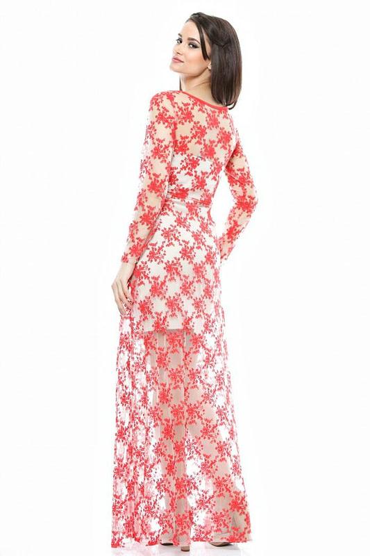 rochie rosie din dantela dr1327 1620 2