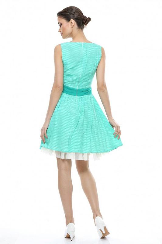 rochie verde cu buline d90249 v 1546 3
