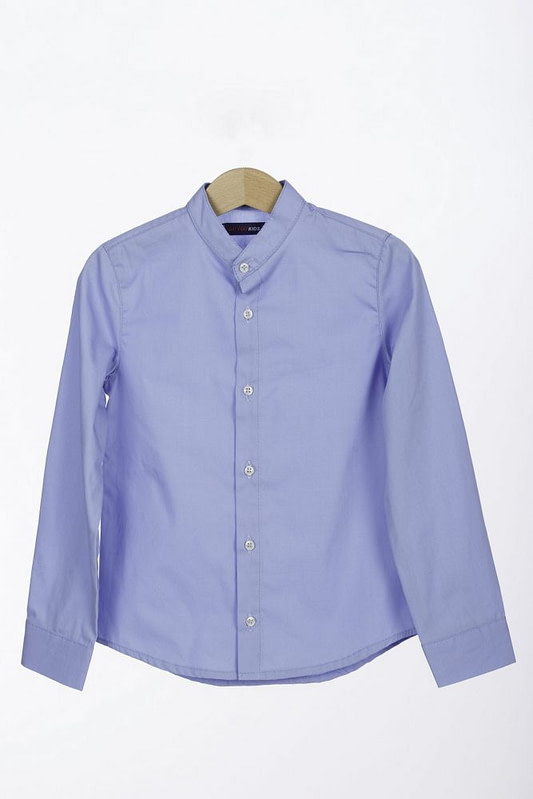 Camasa tunica bleu bumbac scaled