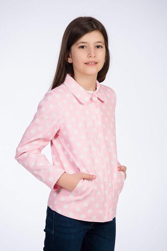 Jacheta roz cu buline pentru fete 1 scaled