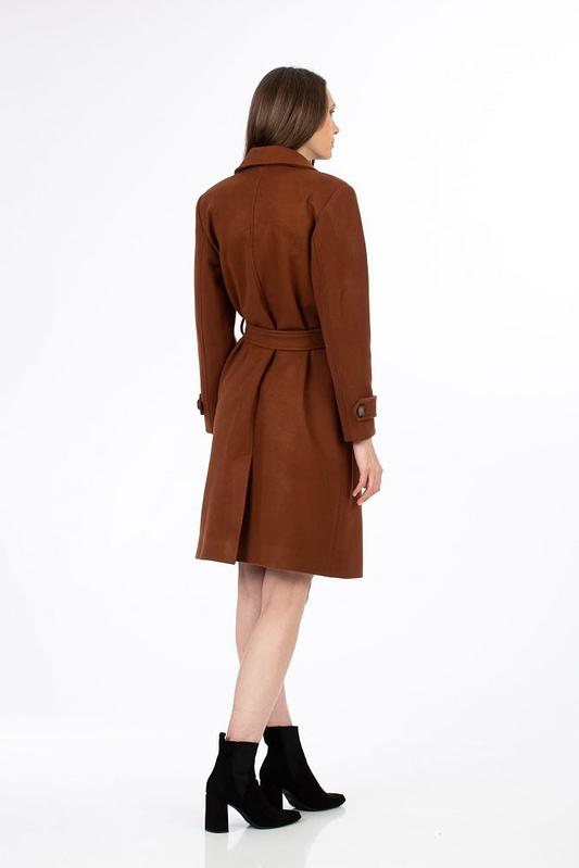 Palton maro cu cordon 1 scaled