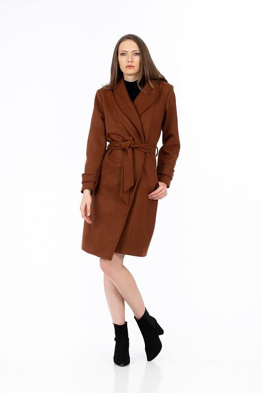 Palton maro cu cordon 2 scaled