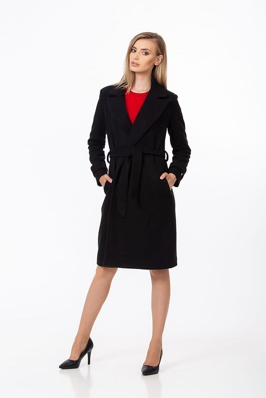 Palton negru clasic 1