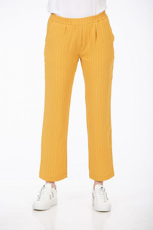 Pantaloni galben mustar cu dungi 1 scaled
