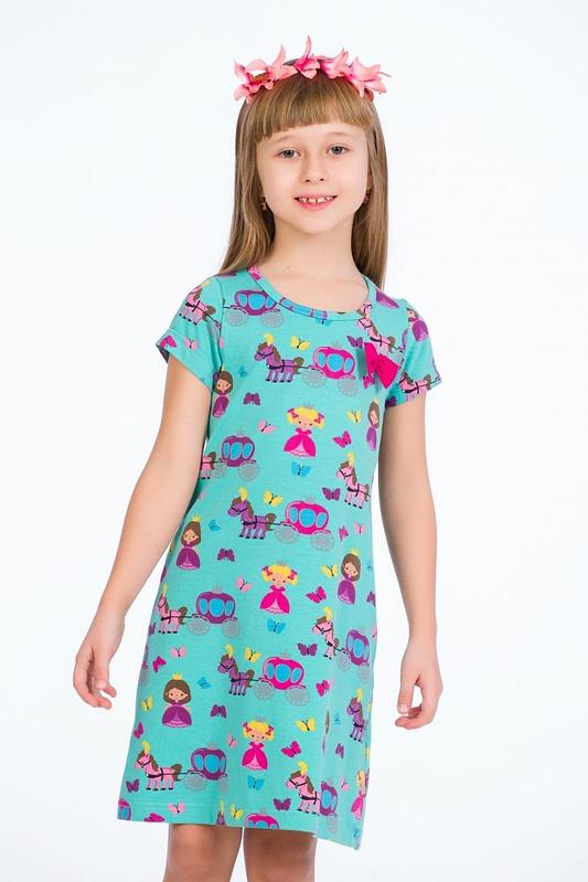 Rochie turcoaz little princess 1 scaled