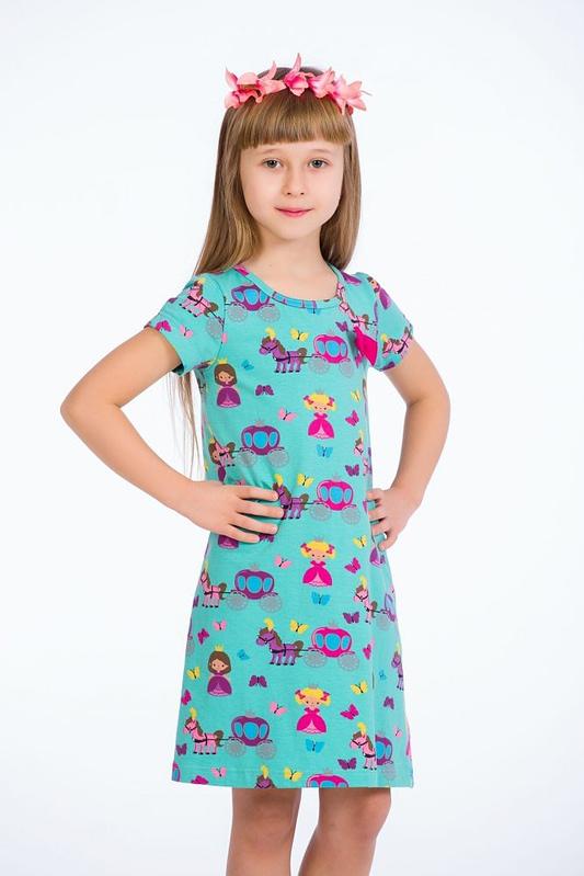 Rochie turcoaz little princess 2 scaled