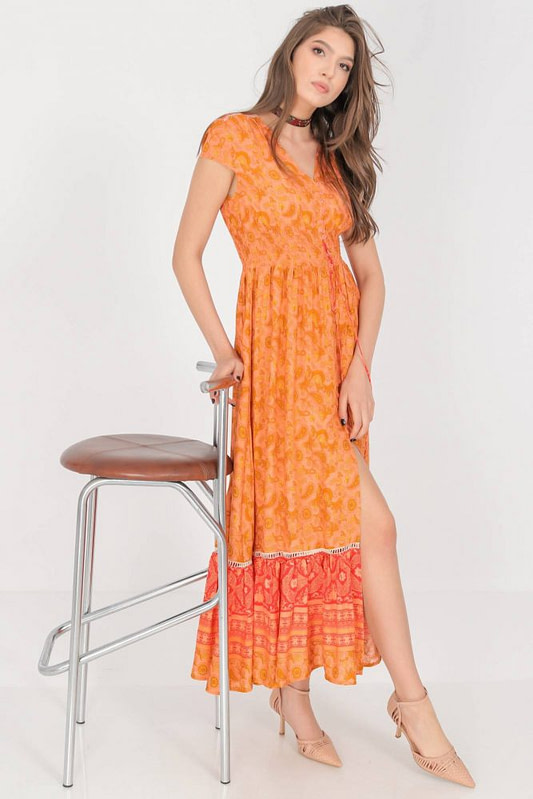 a summer maxi dress aimelia dr4274 in a vibrant orange print 9785 1 scaled
