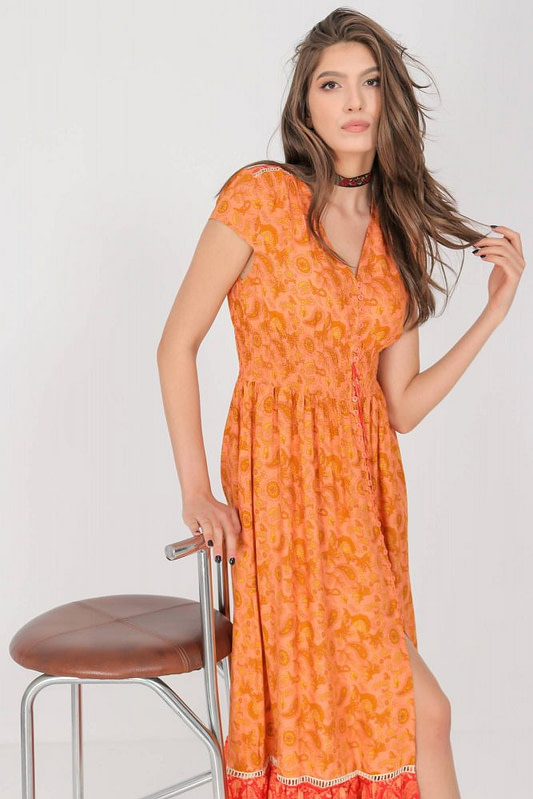 a summer maxi dress aimelia dr4274 in a vibrant orange print 9785 2 scaled