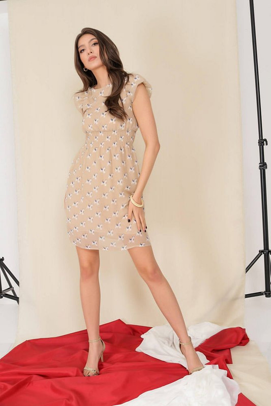 delicate chiffon dress aimelia dr4280 with puffed sleeves 9795 1 scaled