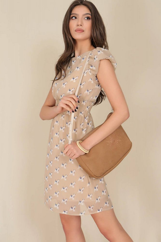 delicate chiffon dress aimelia dr4280 with puffed sleeves 9795 3 scaled