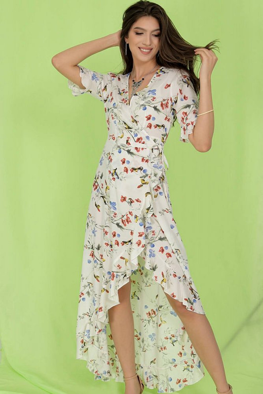 delicately printed maxi dress aimelia dr4273 in cream with a wrapover cut 9784 1 scaled