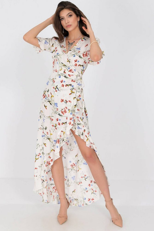 delicately printed maxi dress aimelia dr4273 in cream with a wrapover cut 9784 3 scaled