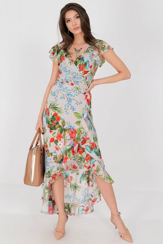 floral maxi dress aimelia dr4272 in beige in a wrap over cut 9783 2 scaled