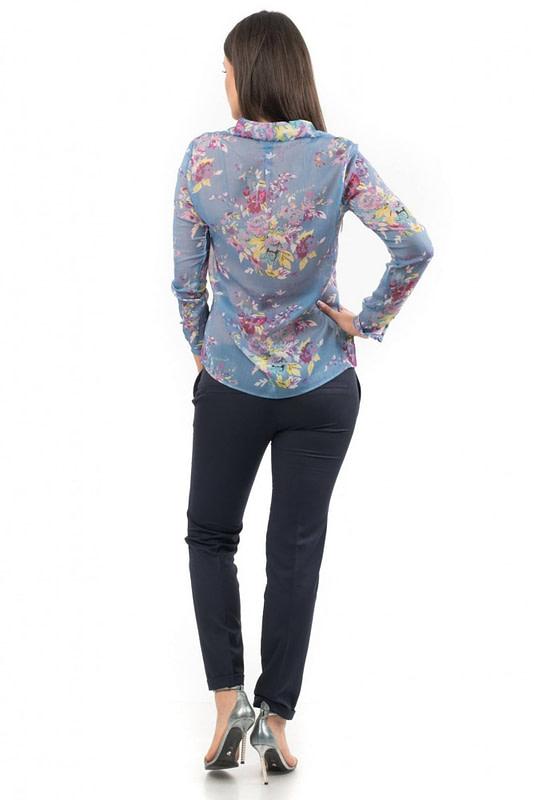 camasa albastra cu imprimeu floral de vara br1334 5535 2