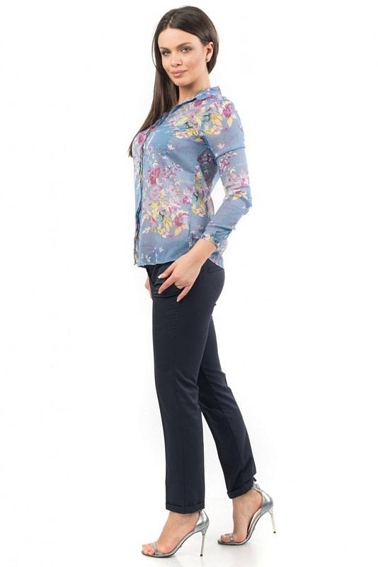 camasa albastra cu imprimeu floral de vara br1334 5535 3
