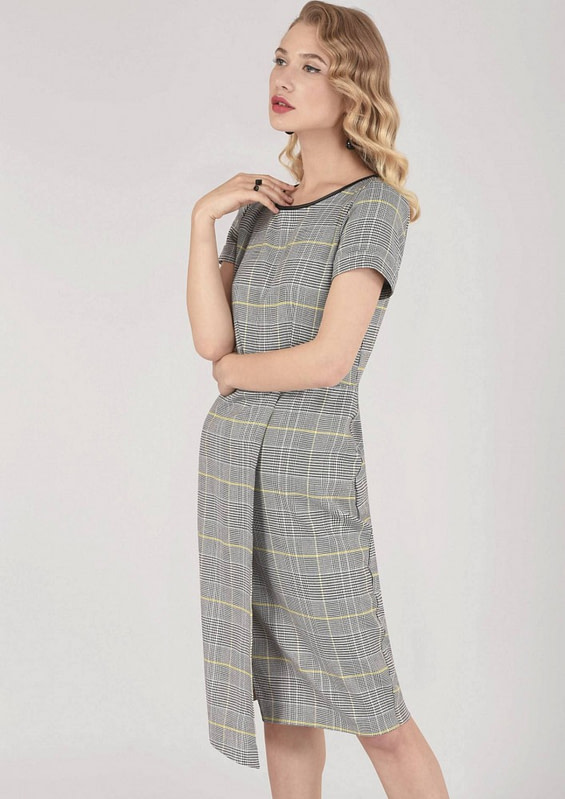 rochie gri roh office dr3509 7432 1