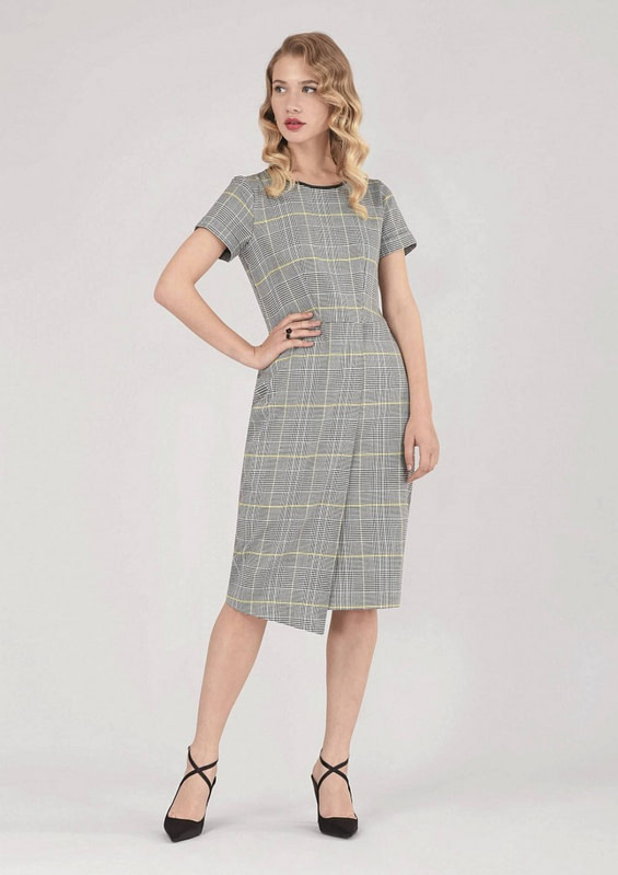 rochie gri roh office dr3509 7432 2