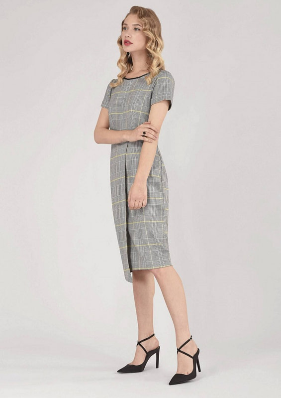 rochie gri roh office dr3509 7432 3