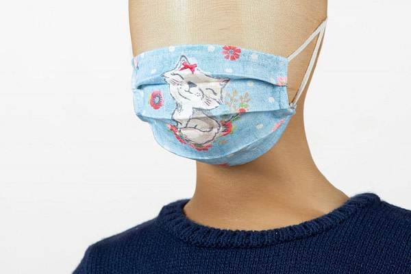 Masca de fata pentru copii imprimeu pisici 1 scaled