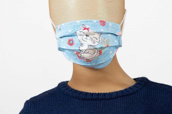 Masca de fata pentru copii imprimeu pisici scaled