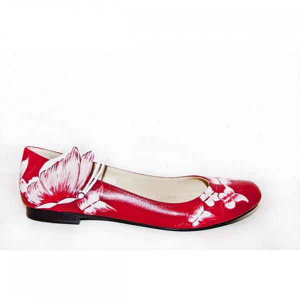 balerini piele pictati manual red mix c200 3