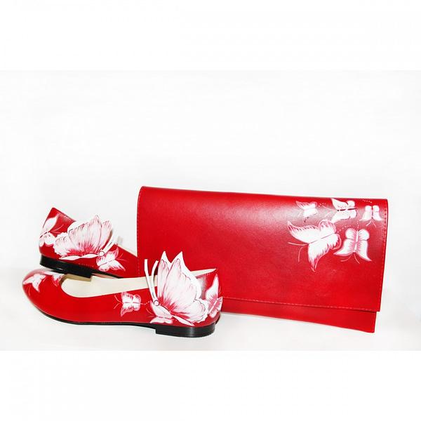 balerini piele pictati manual red mix c200 4