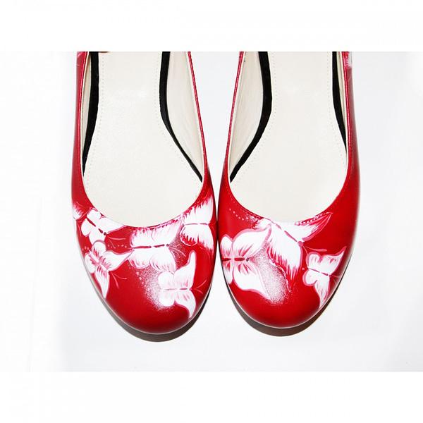 balerini piele pictati manual red mix c200 7