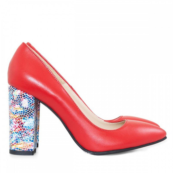 pantofi rosii din piele nazrim d12