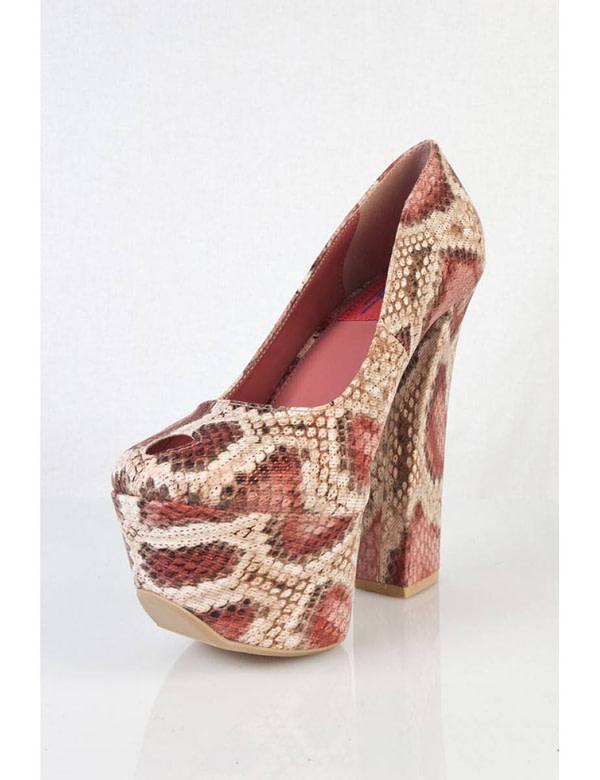 pantofi cu imprimeu de sarpe anne 01 rd 5676 3
