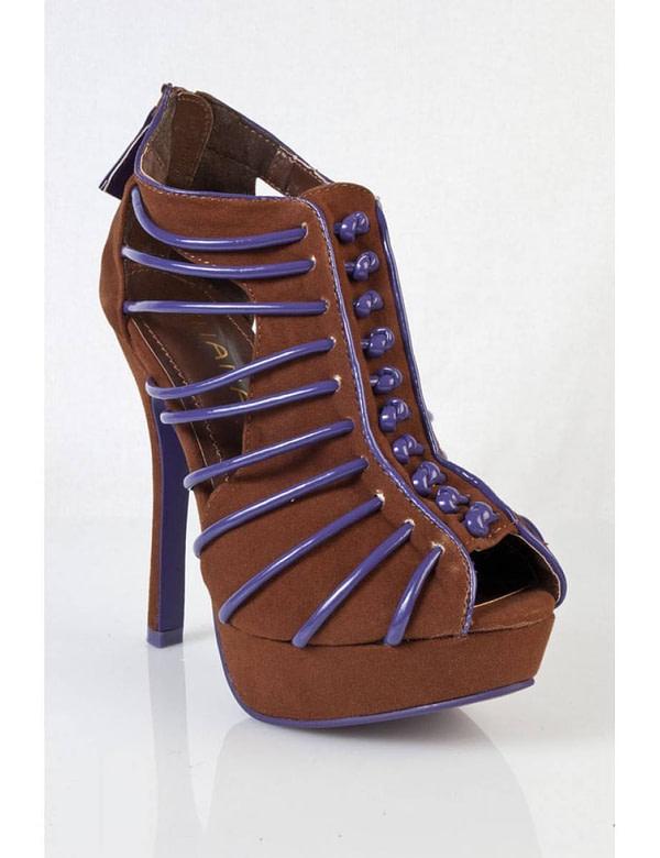 pantofi maro cu albastru sigma blw 5684 2