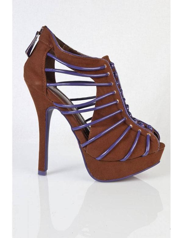 pantofi maro cu albastru sigma blw 5684 3