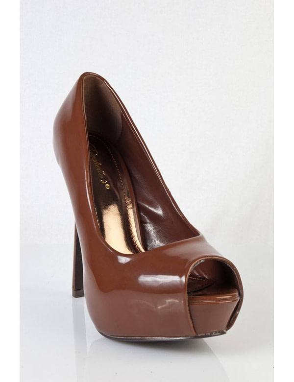 pantofi maro cu tocul ascutit selena 03 tn 5678 1