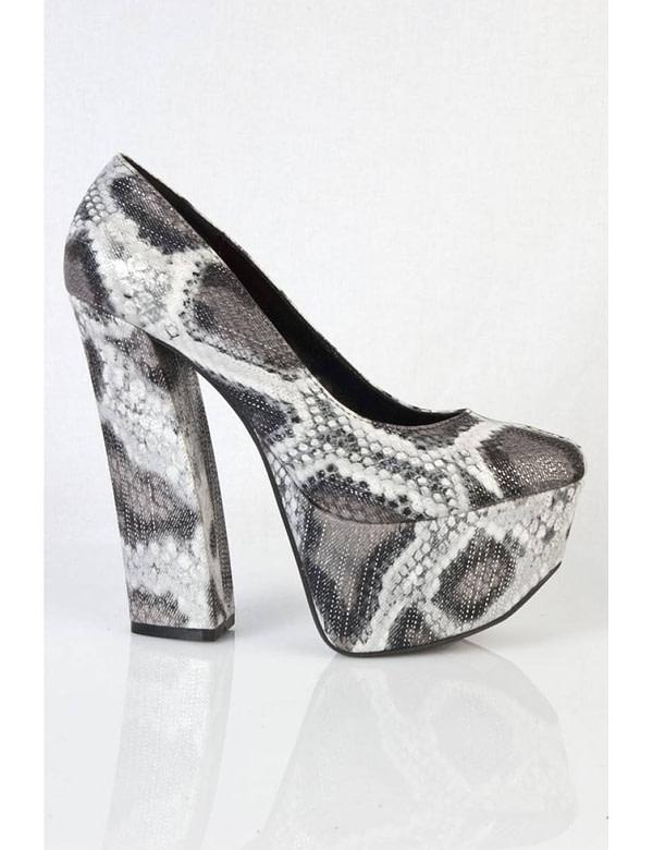 pantofi negri cu imprimeu sarpe anne 01 bk 5677 3